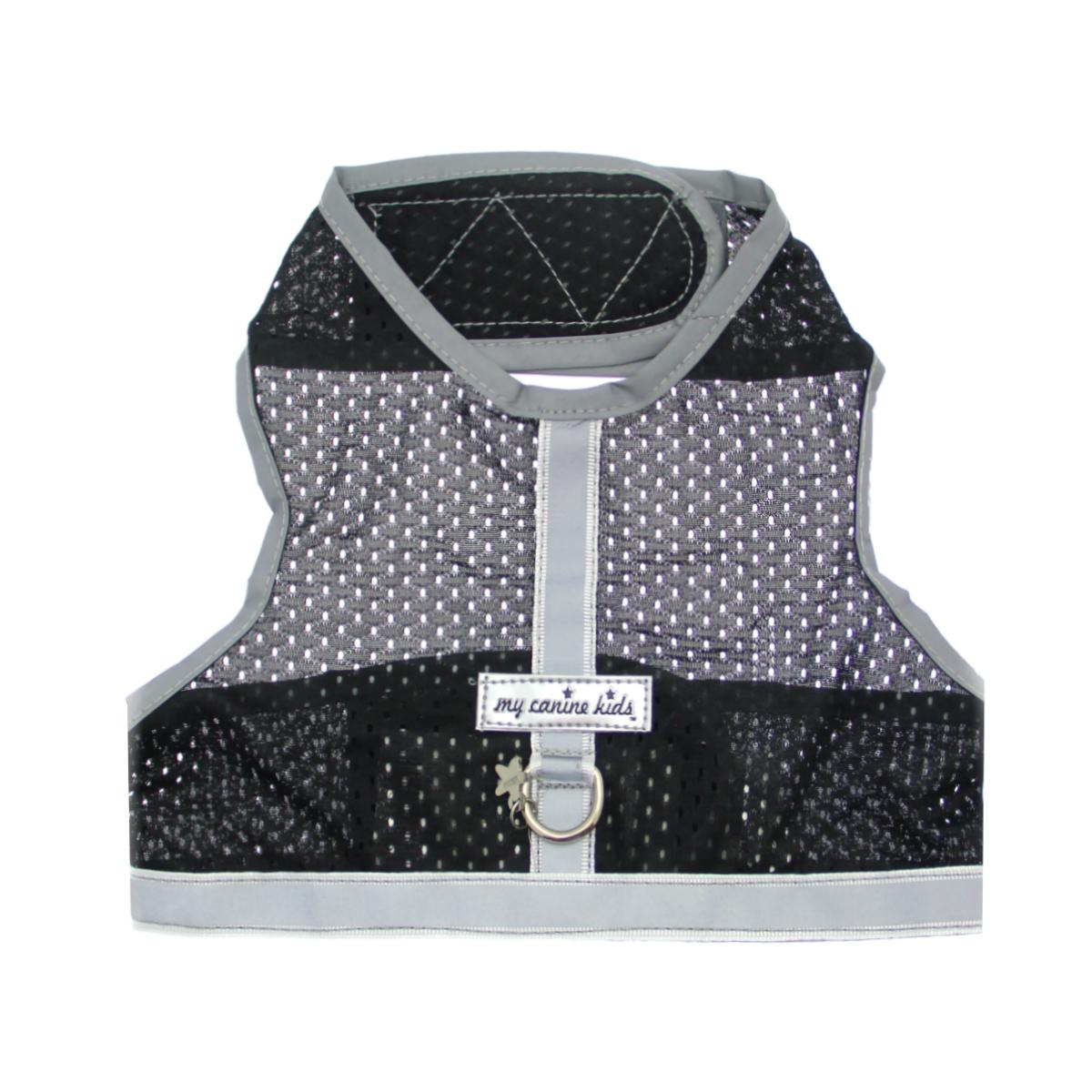 Athletic Mesh Dog Vest Harness - Black