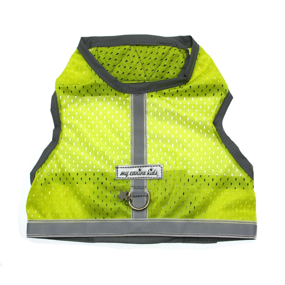 Athletic Mesh Dog Vest Harness - Lime Green