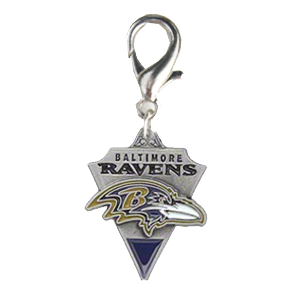 Baltimore Ravens Pennant Dog Collar Charm