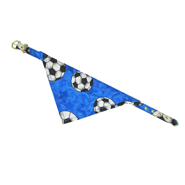 Bandana Dog Collar - Blue Soccer