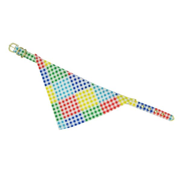 Bandana Dog Collar - Checkered