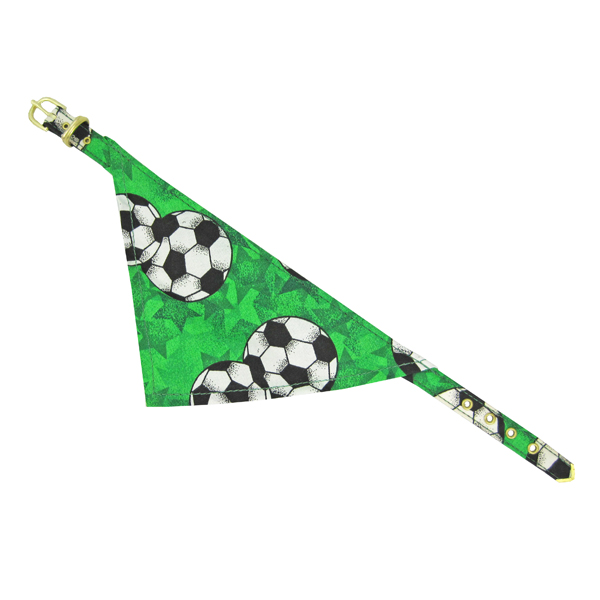 Bandana Dog Collar - Green Soccer
