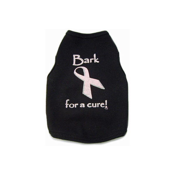 Bark for a Cure Dog Tank Top - Black