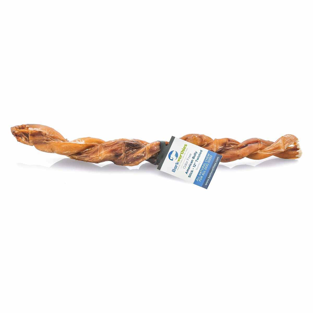 barkworthies all natural odor free american twisted bully stick baxterboo. Black Bedroom Furniture Sets. Home Design Ideas