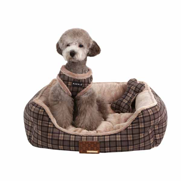 Barron House Dog Bed by Puppia  - Gray