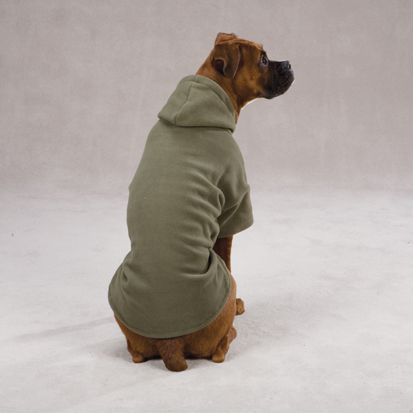 Basic Fleece Dog Hoodie - Chive