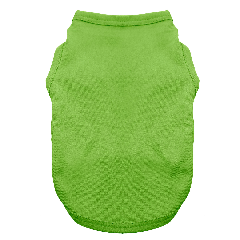 Basic Tank Dog Shirt - Parrot Green