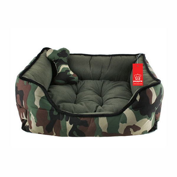 Battlefield Camo Dog Bed with Toy by Puppia