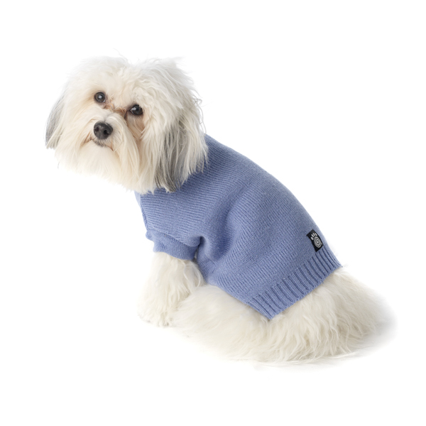 Baxter's Basic Dog Sweater - Periwinkle Blue