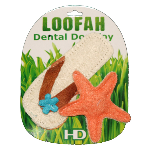Beach Loofah Dog Toy Combo