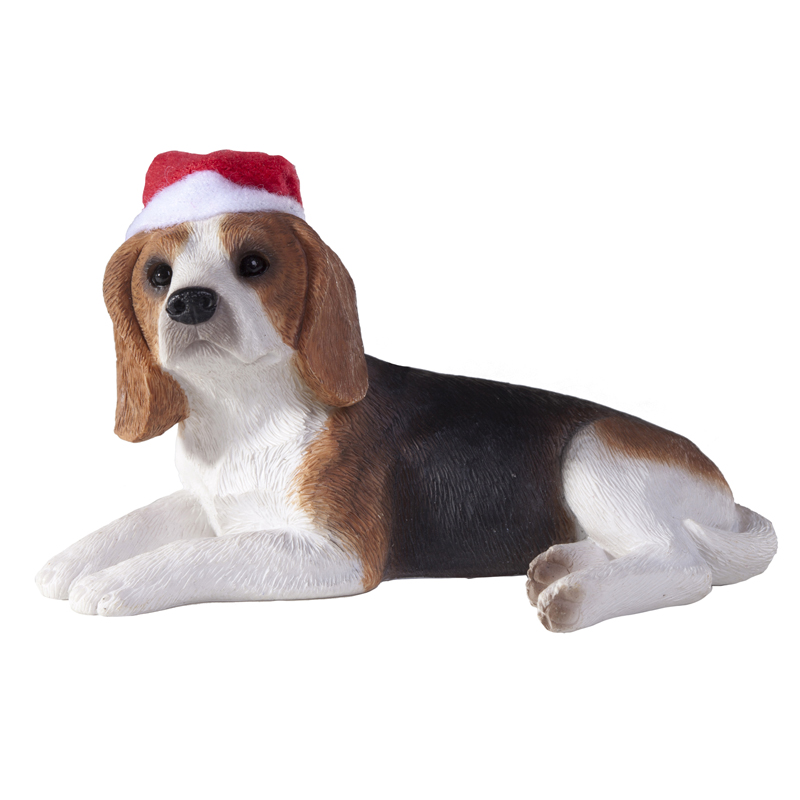 Beagle Christmas Ornament - Laying Down
