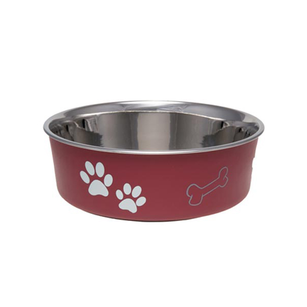 Bella Stainless Steel Dog Bowl - Merlot