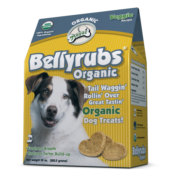 Bellyrubs Organic Dog Biscuits - Veggie