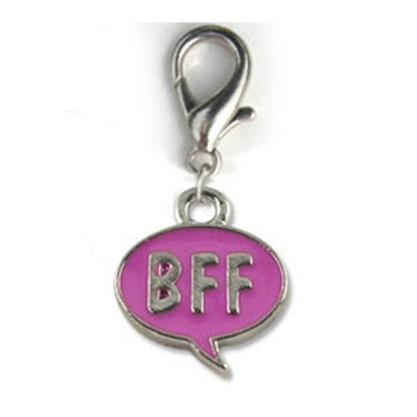 BFF! Dog Collar Charm - Pink