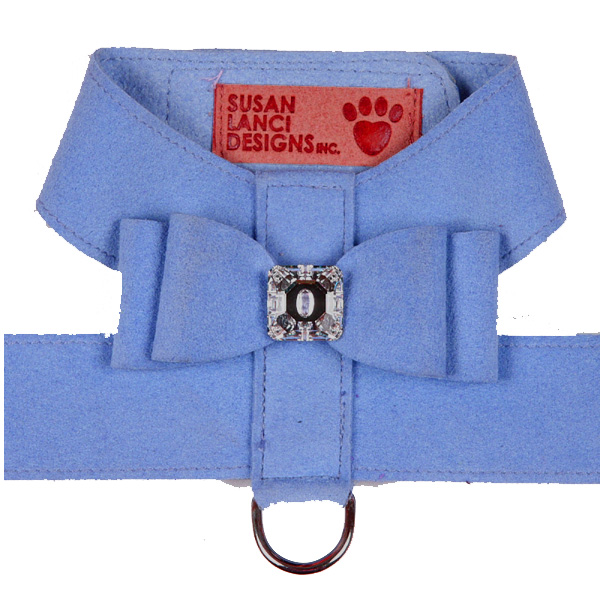 Big Bow Dog Harness by Susan Lanci - Puppy Blue