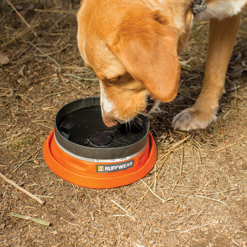 Bivy Bota Water Reservoir Dog Bowl By RuffWear - Campfire Orange