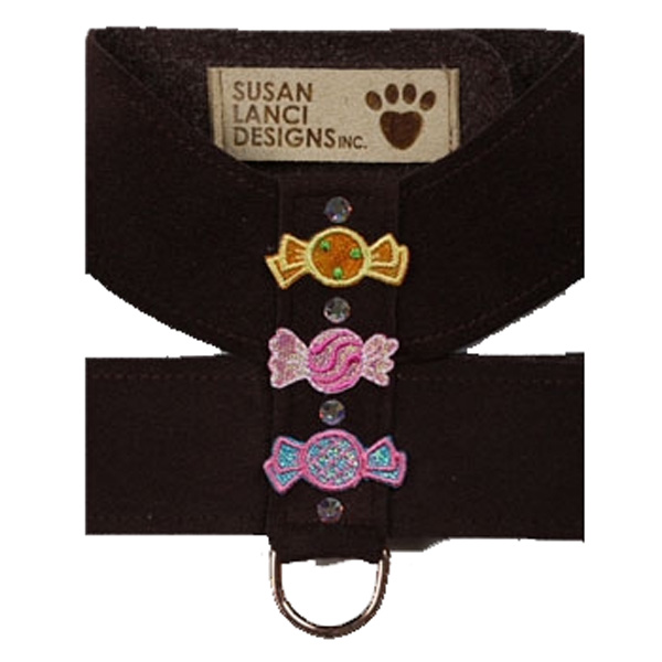 Black Candy Dog Harness by Susan Lanci