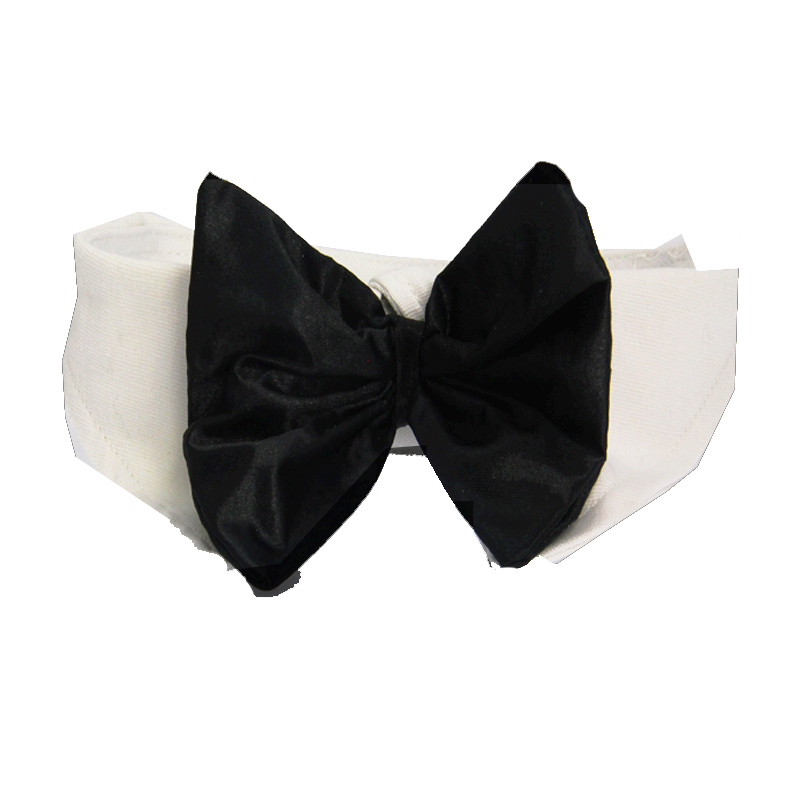 Black Satin Bowtie Collar