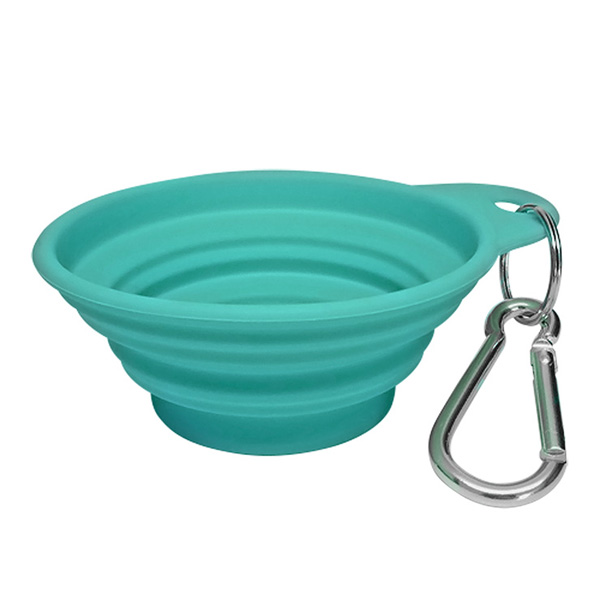 Bliss Paws Collapsible Travel Pet Bowl - Melon Green