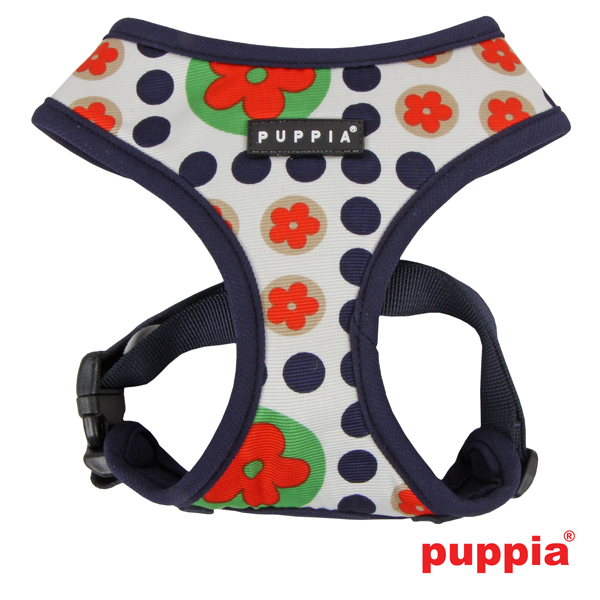 Blossom Dog Harness by Puppia - Navy