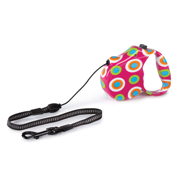 Boardwalk Retractable Dog Leash - Mod Dots
