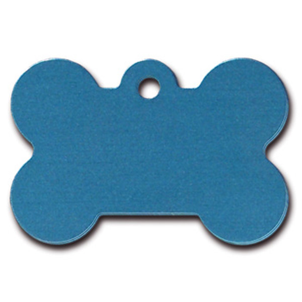 Bone Large Engravable Pet I.D. Tag - Blue