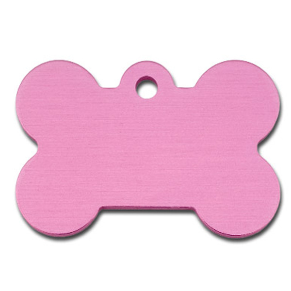 Bone Large Engravable Pet I.D. Tag - Light Pink