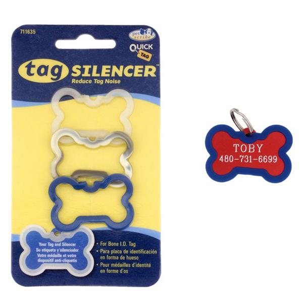 Bone Pet Tag Silencer - Male 3 Pack