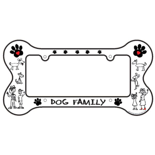 Bone Shaped License Plate Frame Dog Family Baxterboo