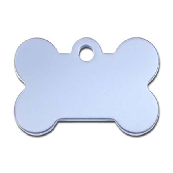 Bone Small Engravable Pet I.D. Tag - Light Blue
