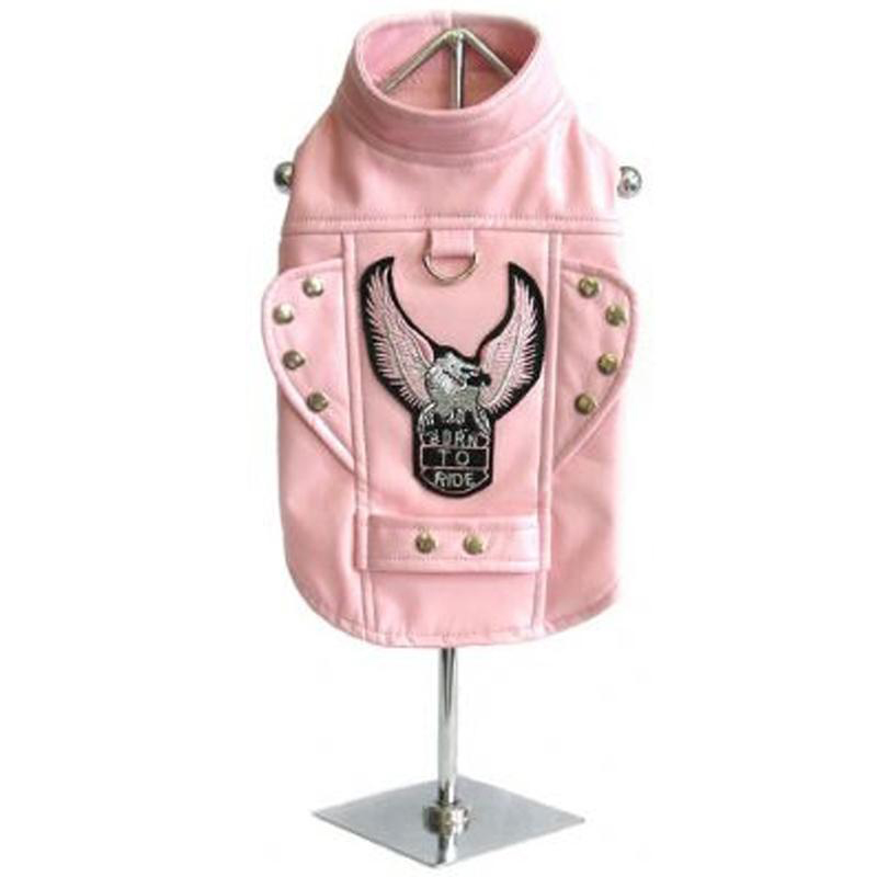 Born To Ride Motorcycle Harness Jacket - Pink