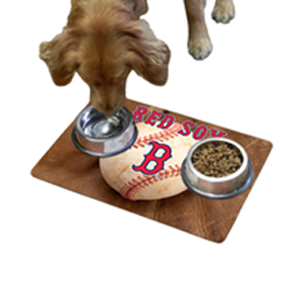 Boston Red Sox Pet Bowl Mat