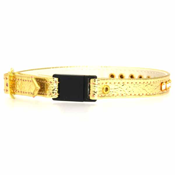 Breakaway Crystal Cat Collar - Gold