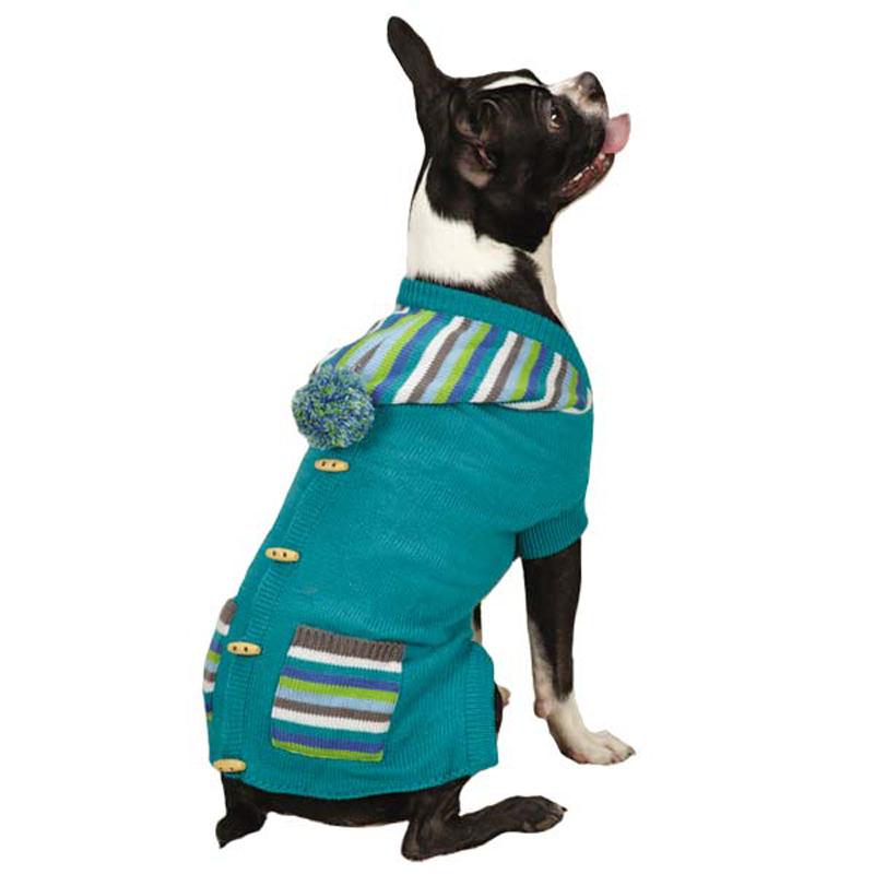 Dogs in Sweater Vests Bright Stripe Dog Sweater Vest