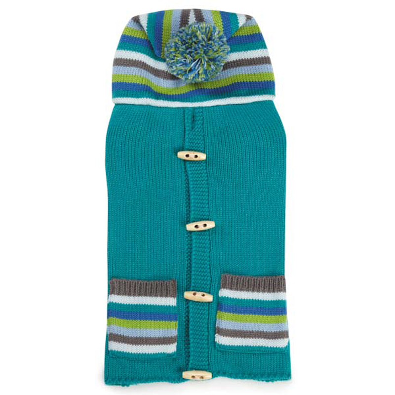 Bright Stripe Dog Sweater Vest - Teal