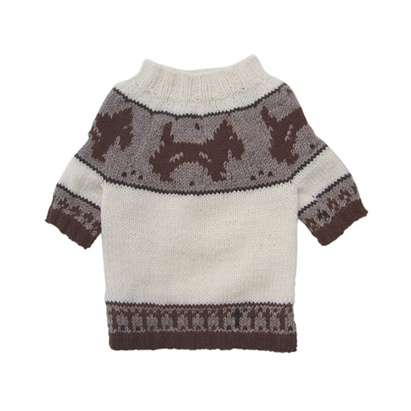 Brown Doggies and Pattern Dog Sweater by Klippo
