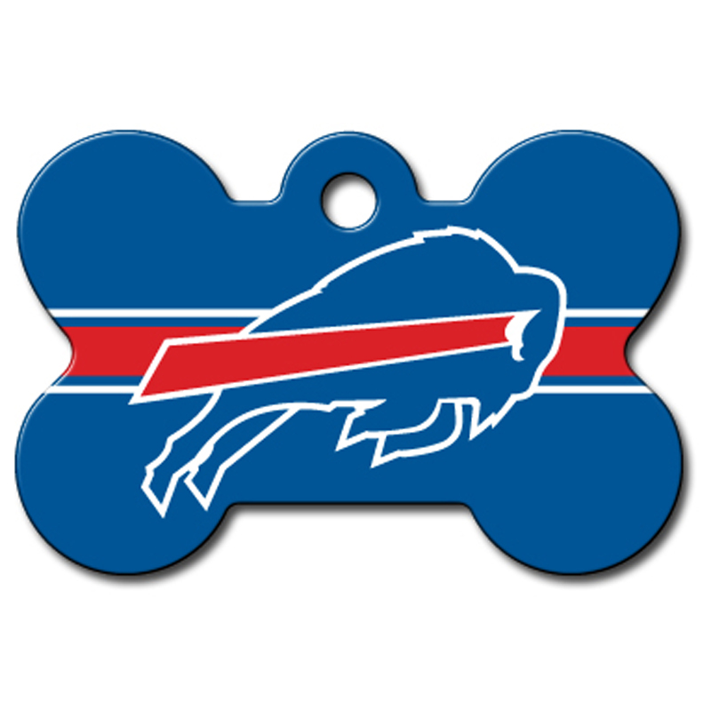 Buffalo Bills Engravable Pet I.D. Tag - Bone
