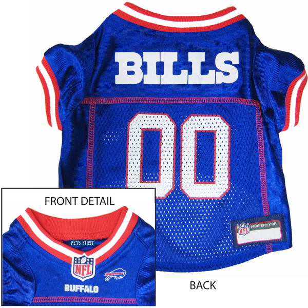Buffalo Bills Officially Licensed Dog Jersey - Red and White Trim