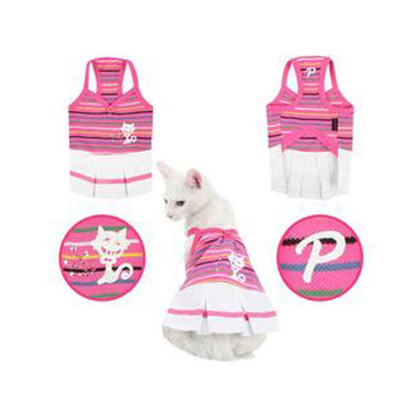 Bully Cat Dress for Cats by Puppia - Pink