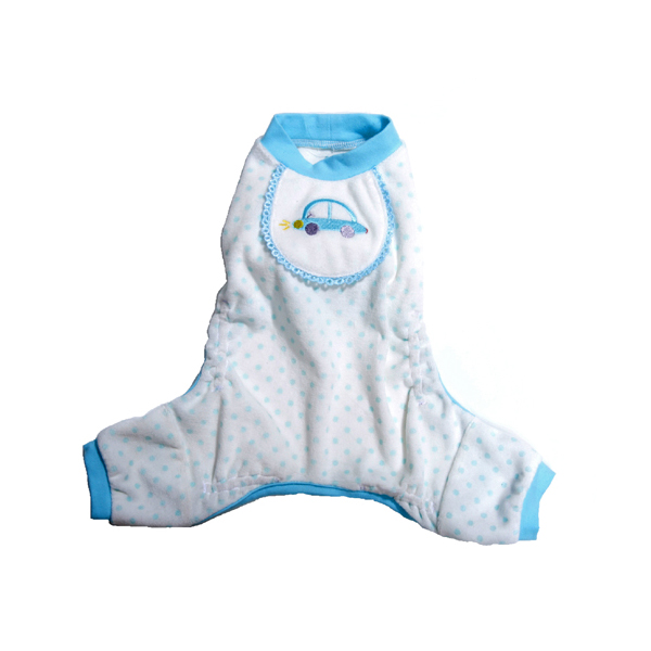 Bumper Car Dog Pajamas - Blue