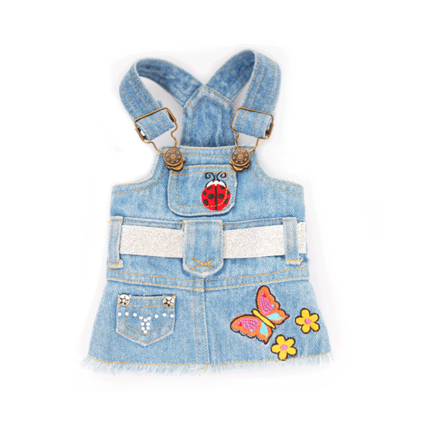 Butterfly Zoey Denim Dog Dress