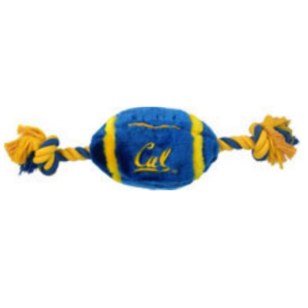 California Golden Bears Plush Football Dog Toy