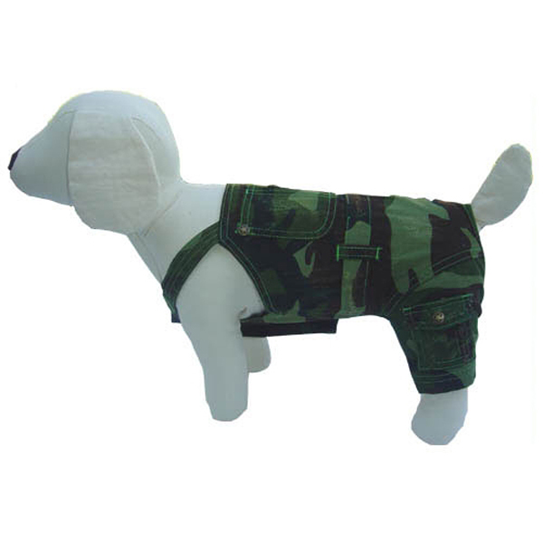 Camo Denim Dog Overalls