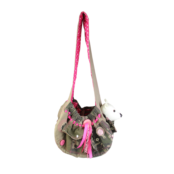 Camouflage & Pink Sling Dog Carrier