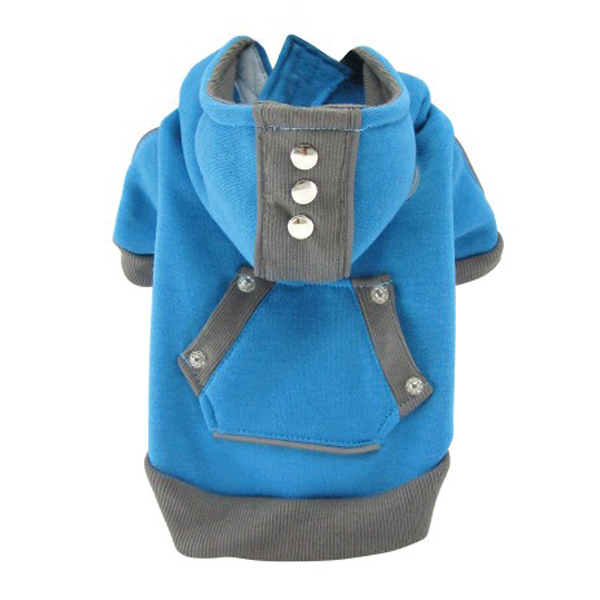 Candy Dog Hoodie - Blue and Gray
