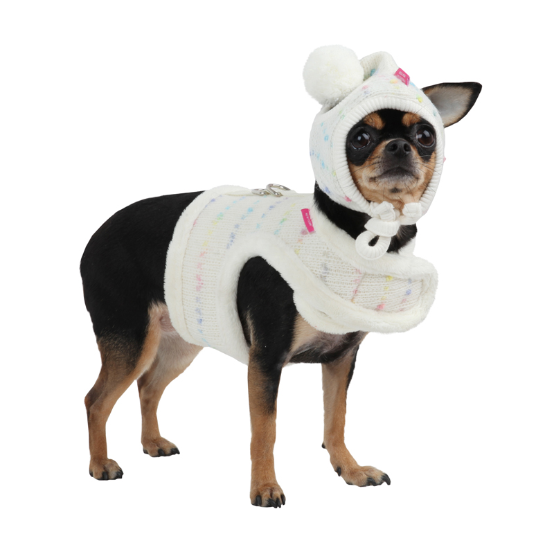 Candy Mist Dog Harness by Pinkaholic - Ivory
