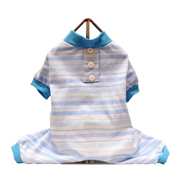 Candy Striped Dog Pajamas - Blue