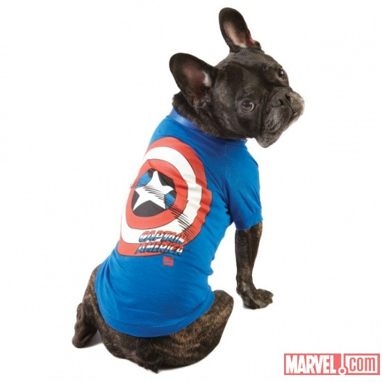 Captain America Dog T-Shirt