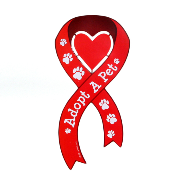 Car Magnet - Adopt a Pet Ribbon