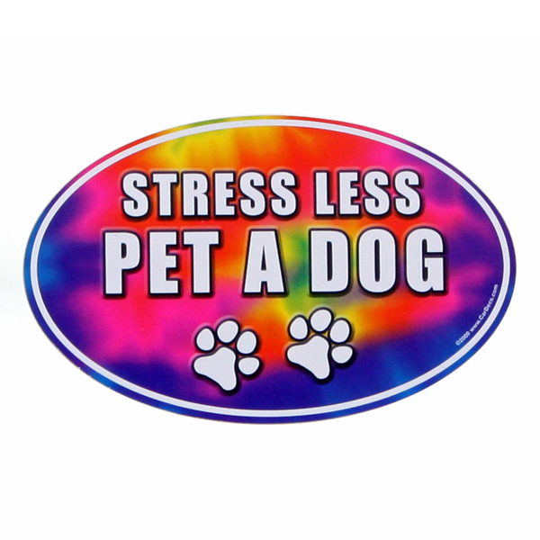 Car Magnet - Stress Less, Pet a Dog